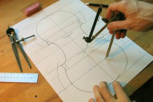 4-Drawing and conception of the outline-nicolas-gilles-violin maker-montpellier-villeneuvette-france