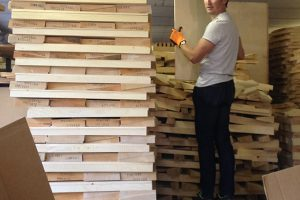 Selection du bois en Italie.