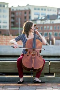 Katlyn DeGraw, Baltimore, Maryland, USA. Associate Principal Cellist of the Maryland Symphony Orchestra, and the Ann Street Trio.