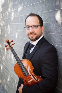 Mauricio Oliveros-Romero. Houston, Texas, USA. Associate Concertmaster-Symphony of Southeast Texas. Founding member of Terra Nostra Ensemble.